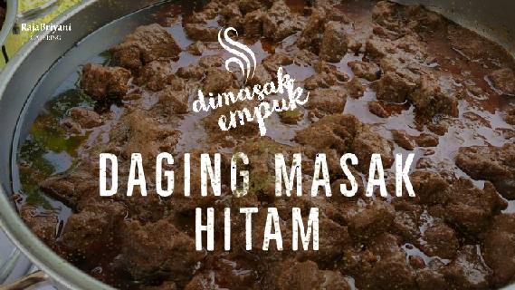 Daging masak hitam Raja Briyani Catering